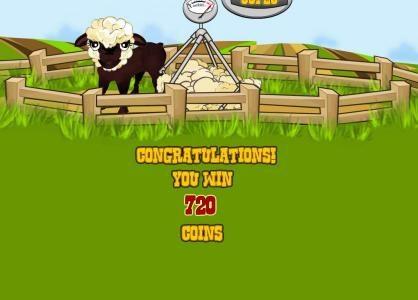 Farm Fair :: bonus feature pays out a 720 coin jackpot