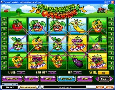 Play slots at Giant Vegas: Giant Vegas featuring the video-Slots Farmer's Market with a maximum payout of $250,000