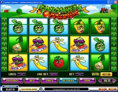 Omni featuring the video-Slots Farmer's Market with a maximum payout of $250,000