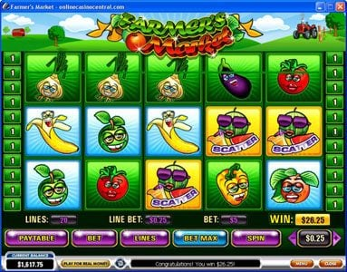 Play slots at Casino.com: Casino.com featuring the video-Slots Farmer's Market with a maximum payout of $250,000