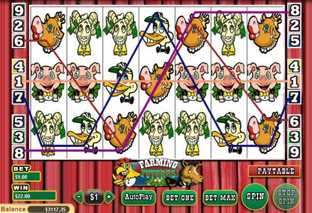 Intertops Classic featuring the Video Slots Farming Futures with a maximum payout of $25,000