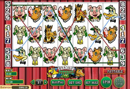 Liberty Slots featuring the Video Slots Farming Futures with a maximum payout of $25,000