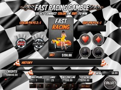 Mission 2 Game featuring the Video Slots Fast Racing with a maximum payout of Jackpot