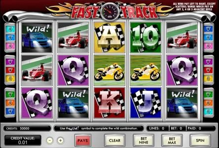 Play slots at Hello: Hello featuring the Video Slots Fast Track with a maximum payout of $62,500