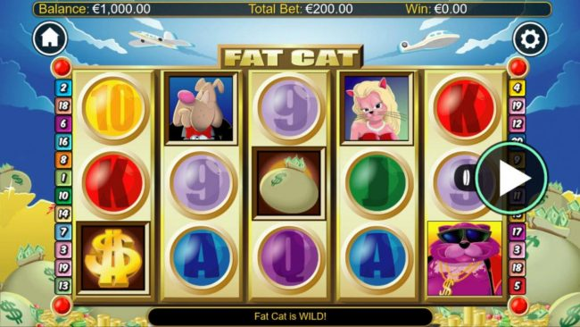 Play slots at Play Hippo: Play Hippo featuring the Video Slots Fat Cats with a maximum payout of $1,200,000