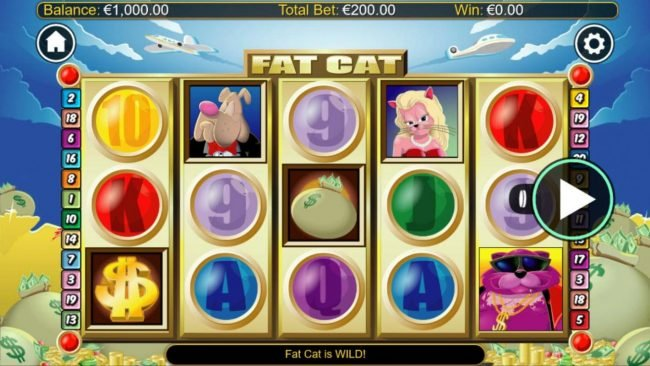 Lightbet featuring the Video Slots Fat Cats with a maximum payout of $1,200,000