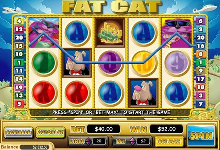 Play slots at Liberty Slots: Liberty Slots featuring the Video Slots Fat Cat with a maximum payout of $50,000