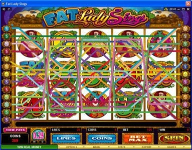 Blackjack Ballroom featuring the Video Slots Fat Lady Sings with a maximum payout of $7,500
