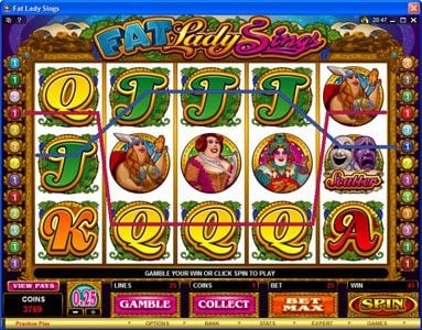 Monaco Aces featuring the Video Slots Fat Lady Sings with a maximum payout of $7,500