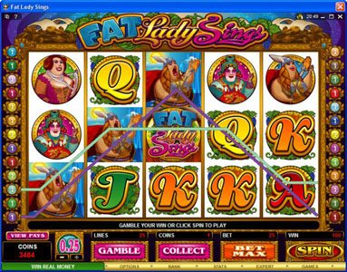 Vegas Country featuring the Video Slots Fat Lady Sings with a maximum payout of $7,500