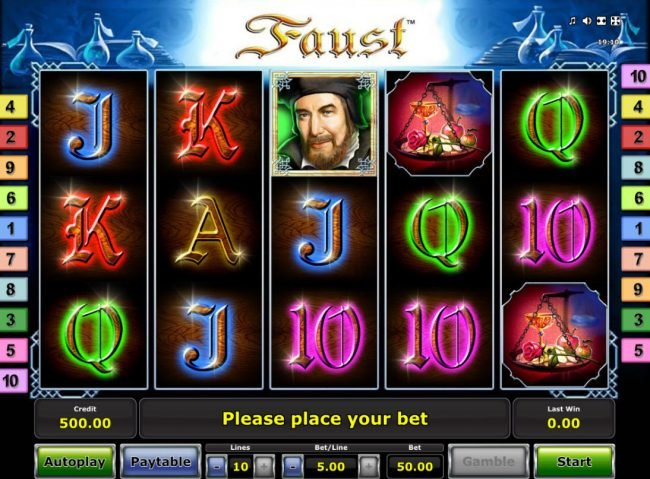 Play slots at AC Casino: AC Casino featuring the Video Slots Faust with a maximum payout of $25,000