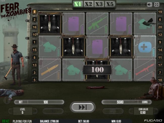 Casino Dingo featuring the Video Slots Fear of Zombies with a maximum payout of $125,000