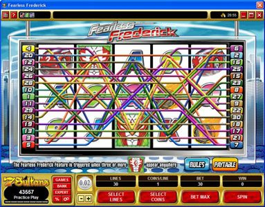 Lucky Emperor featuring the Video Slots Fearless Frederick with a maximum payout of $14,000