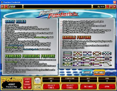 Luxury featuring the Video Slots Fearless Frederick with a maximum payout of $14,000