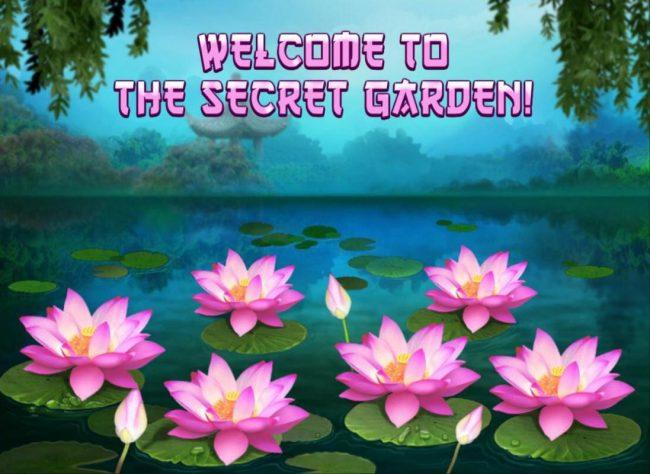 Secret Garden Bonus Game Board - Select 3 Lotus flowers to reveal a cash prize.