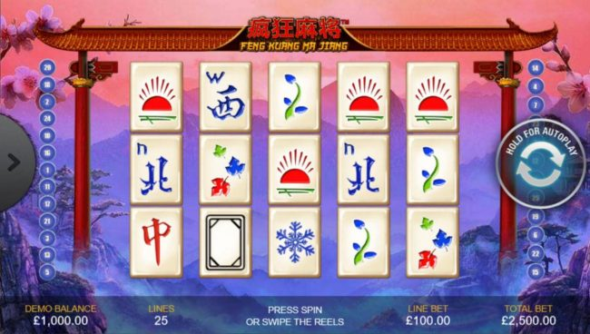 Play slots at Casino.DK: Casino.DK featuring the Video Slots Feng Kuang Ma Jiang with a maximum payout of $500,000