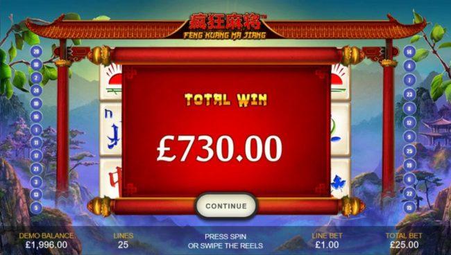 Total Win 730.00