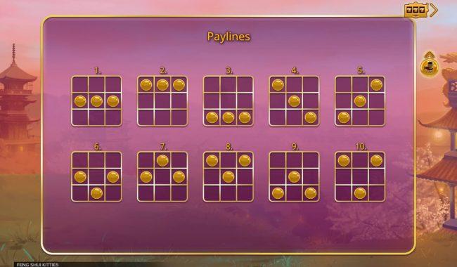 Feng Shui Kittens :: Paylines 1-10