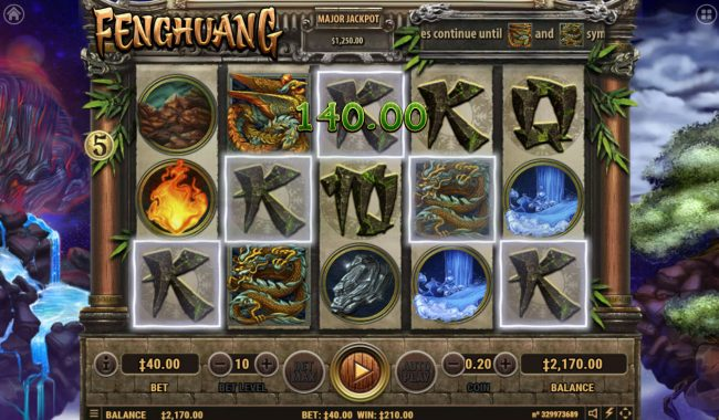 Fenghuang :: Free Spins Game Board