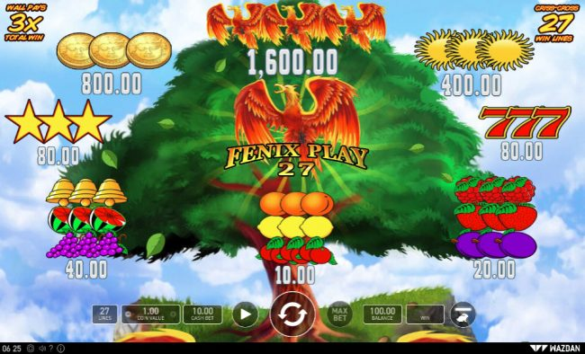 Boo Casino featuring the Video Slots Fenix Play 27 with a maximum payout of $16,000
