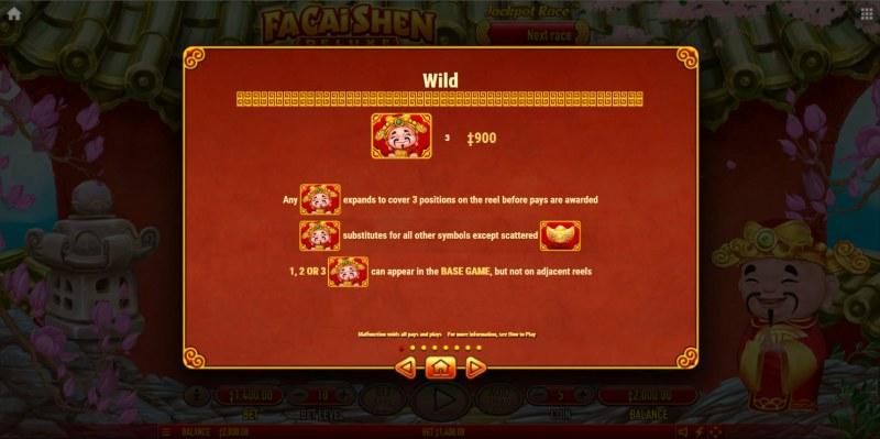 Fa Cai Shen Deluxe :: Wild Symbol Rules