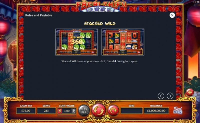 Fa Cai Zhi Fu :: Stacked Wild