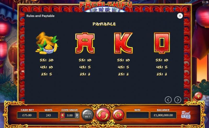 Fa Cai Zhi Fu :: Paytable - Medium Value Symbols