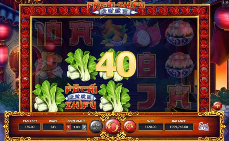 Fa Cai Zhi Fu :: Three of a kind win