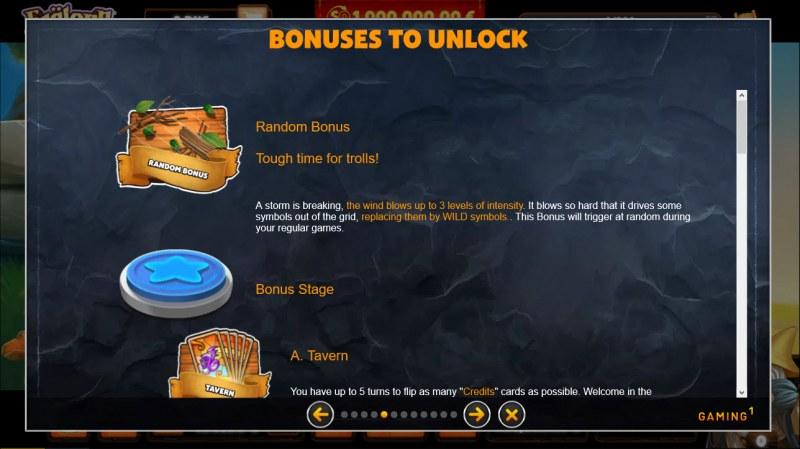 Faelorn Wild Heroes :: Bonus Feature Rules