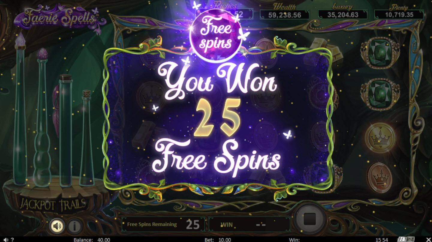 Play slots at Superior: Superior featuring the Video Slots Faerie Spells with a maximum payout of Jackpot