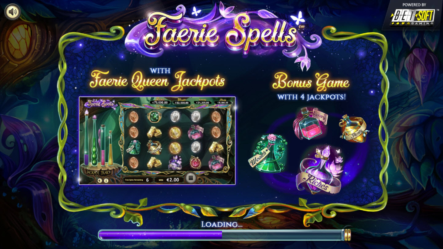 Play slots at Riviera Play: Riviera Play featuring the Video Slots Faerie Spells with a maximum payout of Jackpot