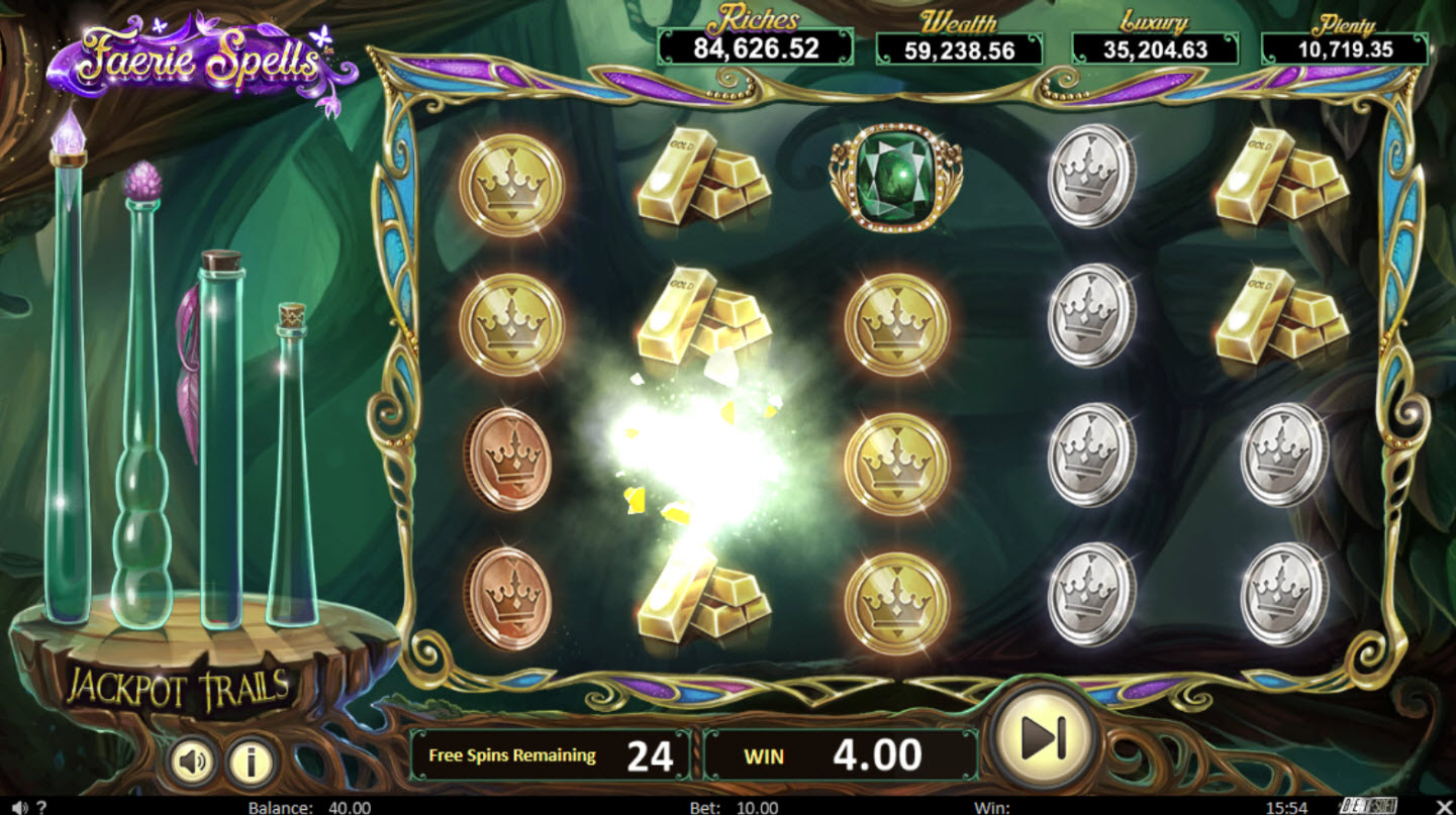 Play slots at Big Spin: Big Spin featuring the Video Slots Faerie Spells with a maximum payout of Jackpot