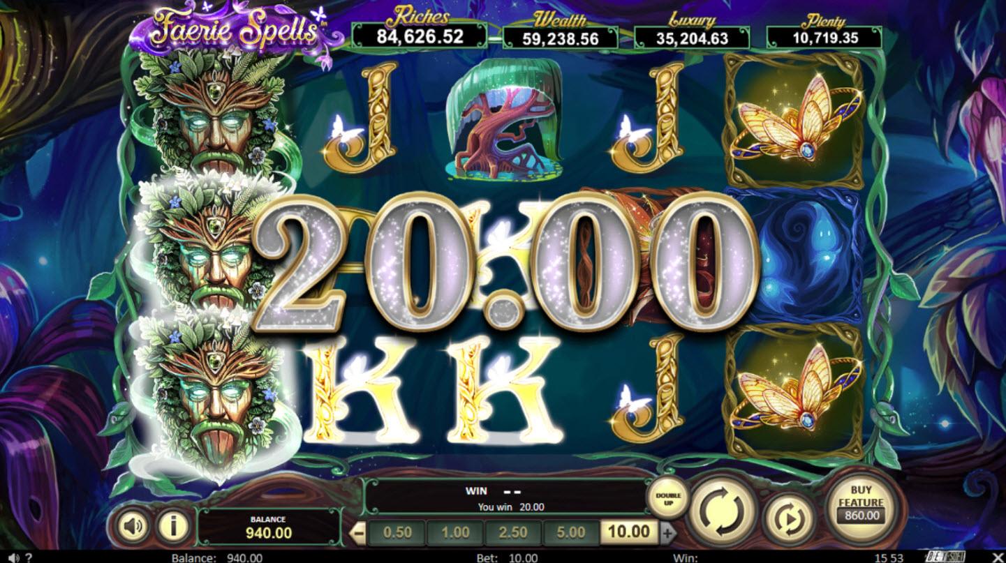 Play slots at MyBcasino: MyBcasino featuring the Video Slots Faerie Spells with a maximum payout of Jackpot