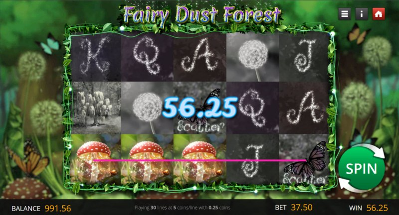 Fairy Dust Forest :: A three of a kind win