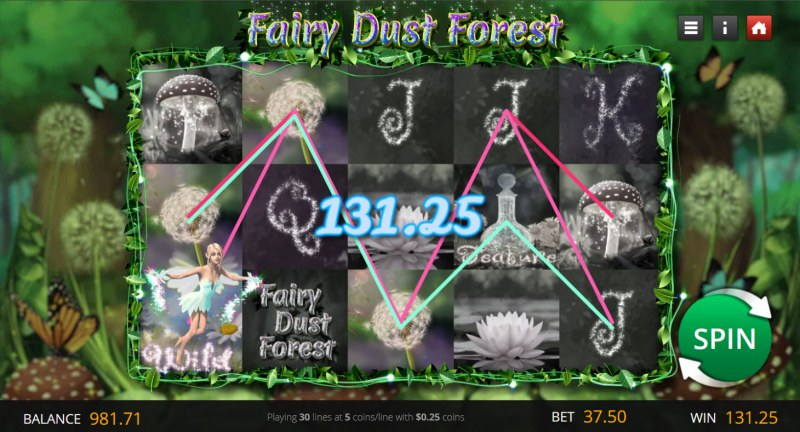Fairy Dust Forest :: Multiple winning paylines