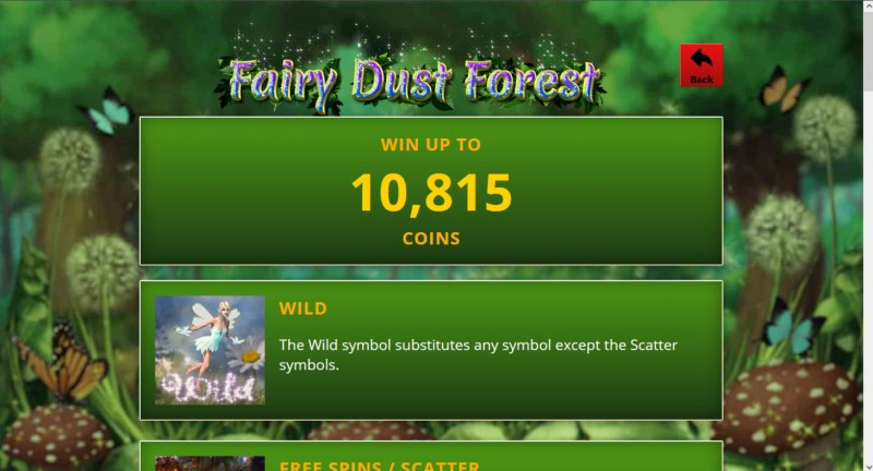 Fairy Dust Forest :: Win Up To 10,815 Coins