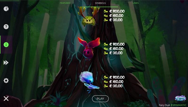 Fairy Dust :: Paytable - Medium Value Symbols