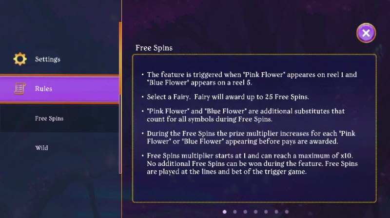 Fairy Fantasies :: Free Spins Rules