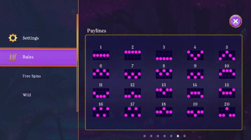 Fairy Fantasies :: Paylines 1-20