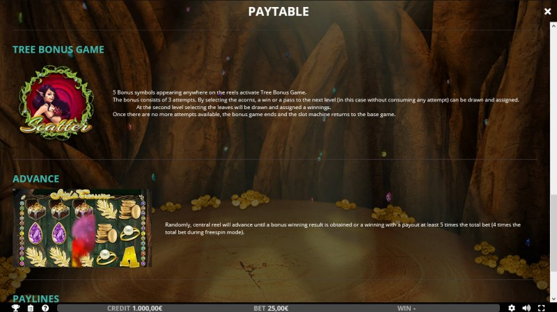 Fairy's Treasure :: Bonus Game Rules