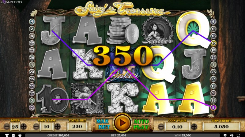 Fairy's Treasure :: Game pays in both directions
