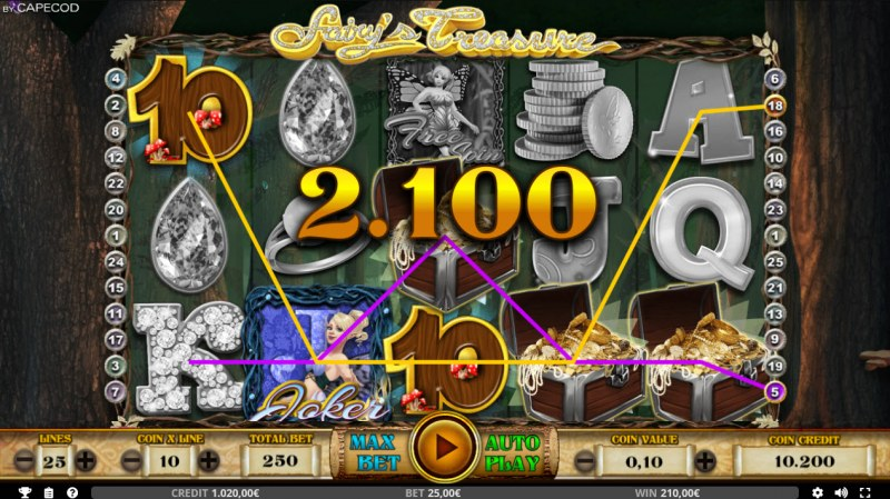 Fairy's Treasure :: Multiple winning combinations leads to a big win