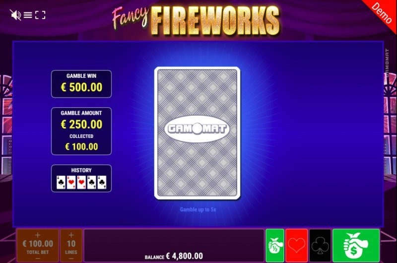 Fancy Fireworks :: Black or Red Gamble Feature