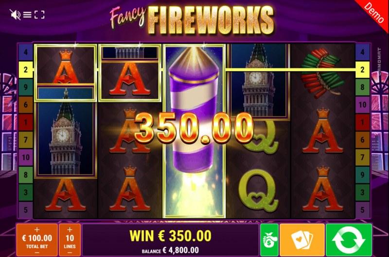 Fancy Fireworks :: Multiple winning paylines