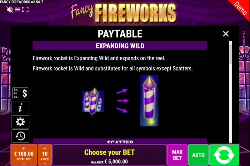 Fancy Fireworks :: Expanding Wild Rules