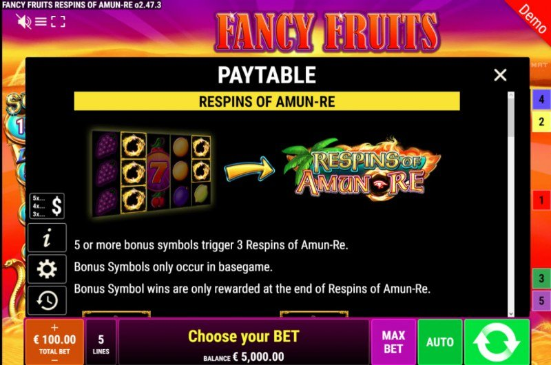 Fancy Fruits Respins of Amun Re :: Respins