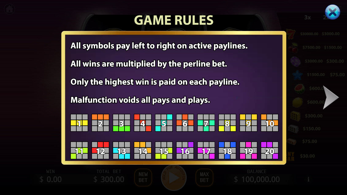 Fantasy 777 :: General Game Rules