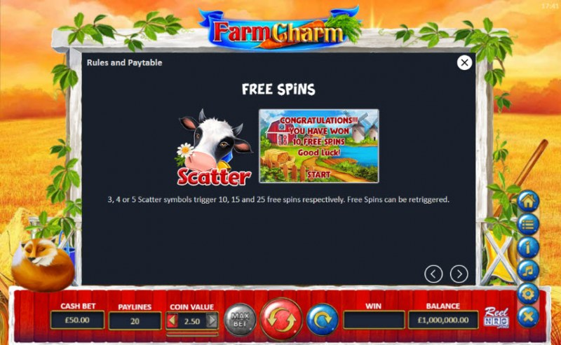 Farm Charm :: Free Spins Rules