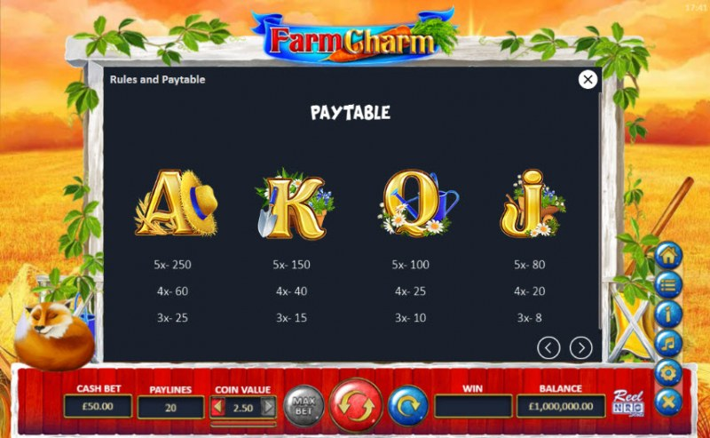 Farm Charm :: Paytable - Medium Value Symbols