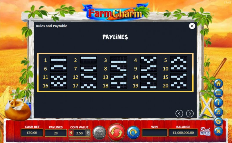 Farm Charm :: Paylines 1-20